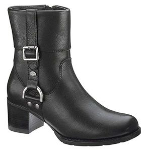 NWT Harley Davidson Black Mid Calf Leather Boots